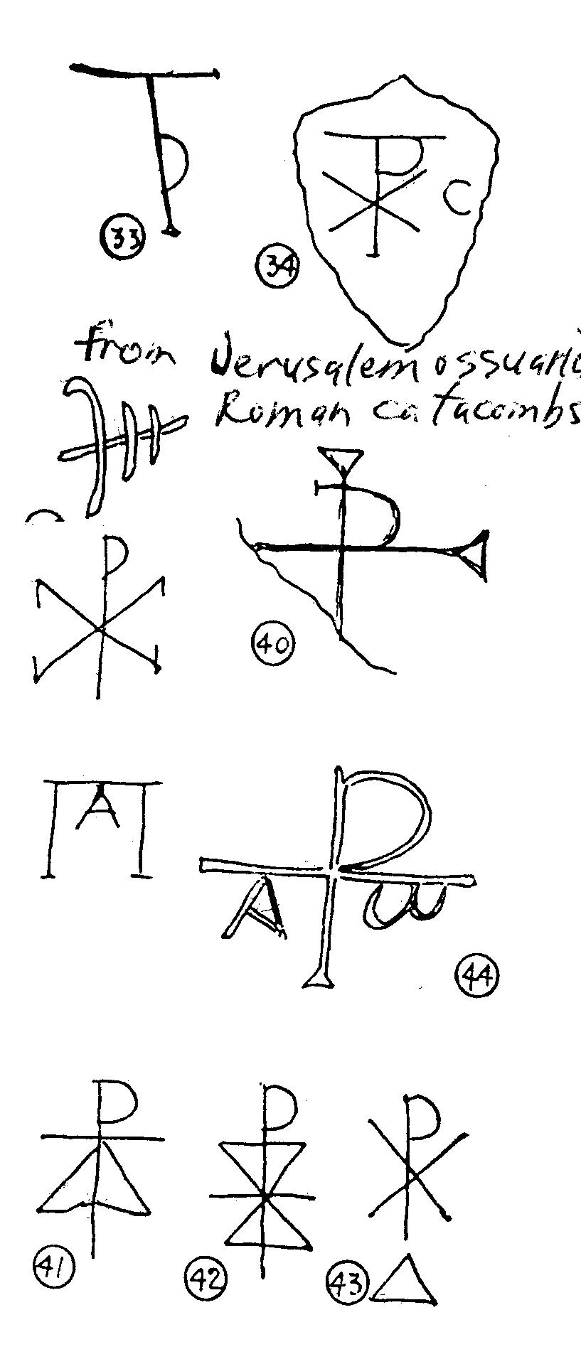 Xpgrafiti2g examples of the first two letters of christ xp and the hebrew tetragrameton yhwh inscribed on first century ossuaries in jerusalem biocorpaavc Choice Image